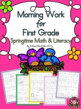 First Grade Morning Work (Springtime)