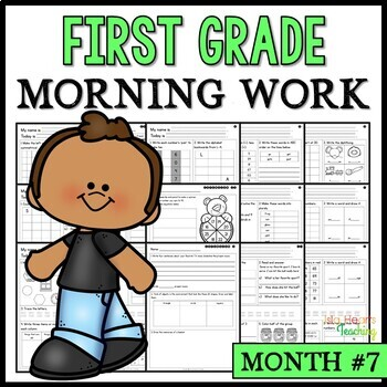 Month #7 Morning Work: First Grade Morning Work