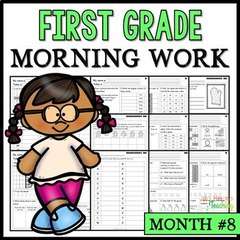 Month #8 Morning Work: First Grade Morning Work