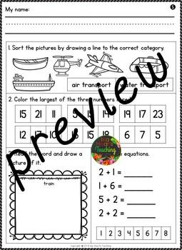 Month #8 Morning Work: First Grade Morning Work Packet