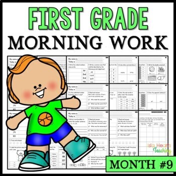 Month #9 Morning Work: First Grade Morning Work