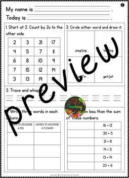 Month #9 Morning Work: First Grade Morning Work Packet