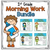 First Grade Morning Work Bundle Distance Learning