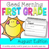 First Grade Morning Work {AUGUST}