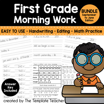 First Grade Morning Work - Do Now for Everyday - Sept. - June BUNDLE