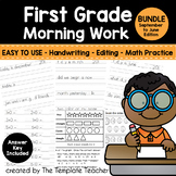 First Grade Morning Work - Do Now for Everyday - Sept. - J