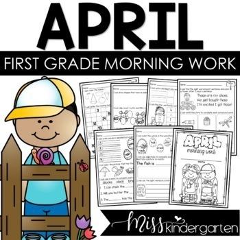First Grade Morning Work {April}