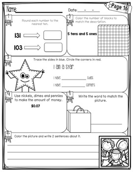 First Grade Morning Work - April