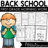 First Grade Morning Work for August