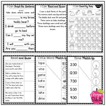 First Grade Morning Work Book April