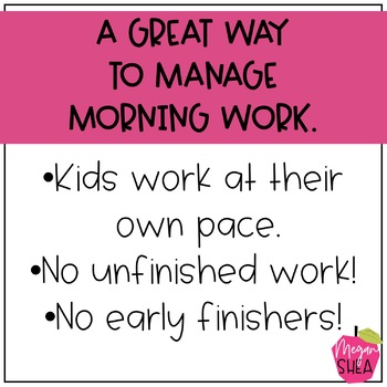 First Grade Morning Work Book August September