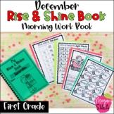 First Grade Morning Work Book December