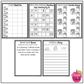 First Grade Morning Work Book December