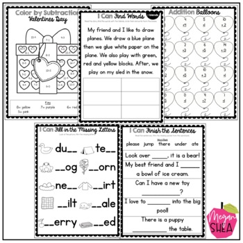 First Grade Morning Work Book February