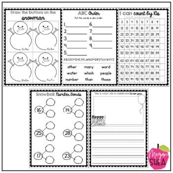 First Grade Morning Work Book January