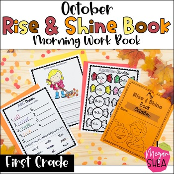 First Grade Morning Work Book October