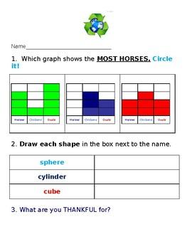 First Grade Morning Work (Brain Stretcher)