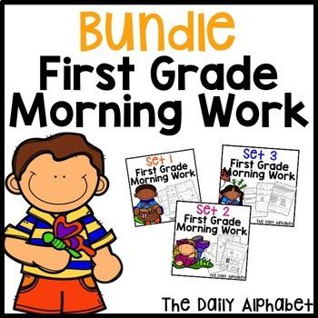 First Grade Morning Work Bundle