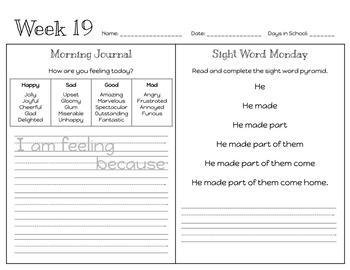 First Grade Morning Work (Bundle: 36 Weeks)