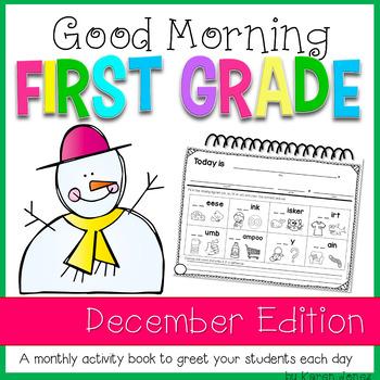 First Grade Morning Work {DECEMBER}