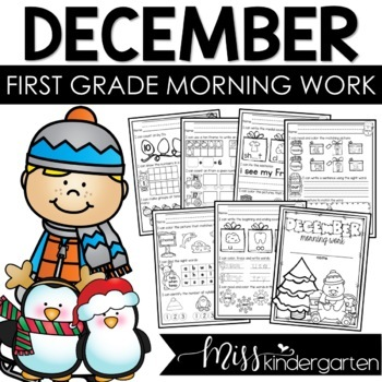First Grade Morning Work {December}