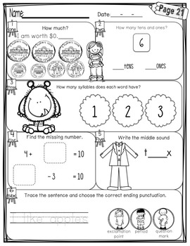 First Grade Morning Work - December