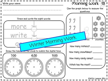 First Grade Morning Work: December and Winter