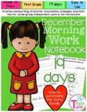 First Grade Morning Work - Do Now - December
