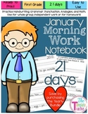 First Grade Morning Work - Do Now -  January
