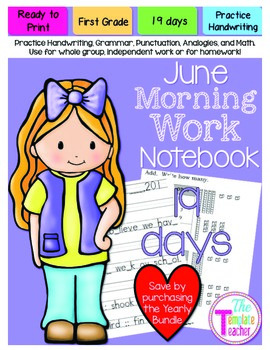First Grade Morning Work - Do Now - June