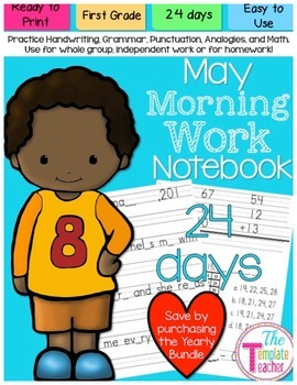 First Grade Morning Work - Do Now - May