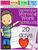 First Grade Morning Work-Do Now - September