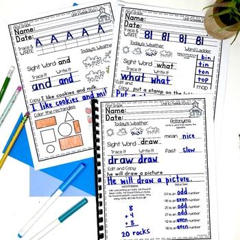1st Grade Morning Work — First Grade Spiral Review