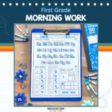 First Grade Morning Work | Homework | Spiral Review | Dist