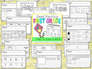 First Grade Morning Work {MAY AND JUNE}