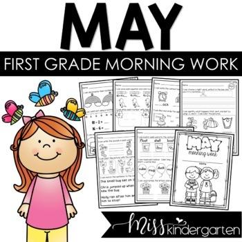 First Grade Morning Work {May}