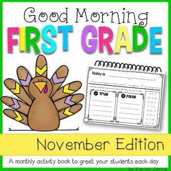First Grade Morning Work {NOVEMBER}