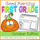 First Grade Morning Work {OCTOBER}