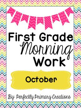 First Grade Morning Work- October!