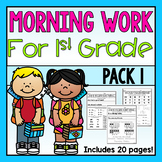 First Grade Morning Work Pack 1
