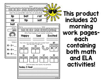First Grade Morning Work Pack 2