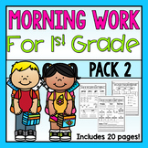 First Grade Morning Work Pack 2