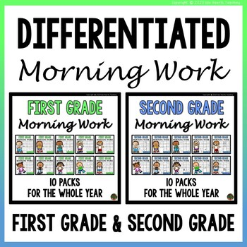 First Grade Morning Work & Second Grade Morning Work (SUPE