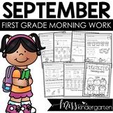 First Grade Morning Work {September}