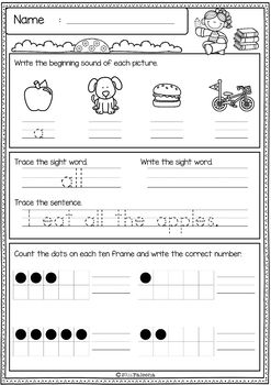 First Grade Morning Work (Set 1)
