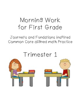 First Grade Morning Work Trimester 1