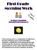 Wonders/Eureka Unit 6--First Grade Morning Work