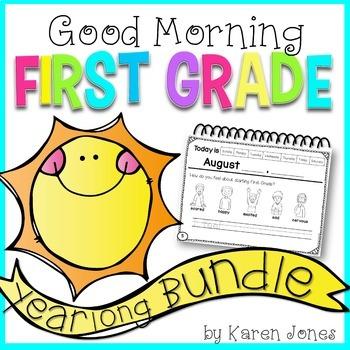 First Grade Morning Work {YEARLONG BUNDLE}