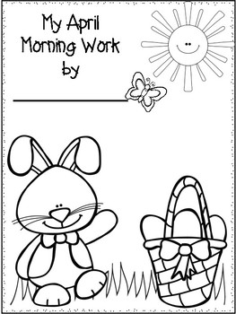 First Grade Morning Work for April