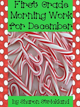 First Grade Morning Work for December